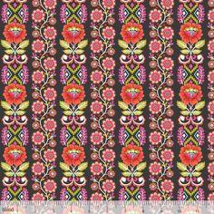 Blend - Riding Hood - Ribbon Bloom (Grey) Fabric