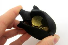 A flexible piggy bank  printed using i.materialise's flexible Rubber-like material