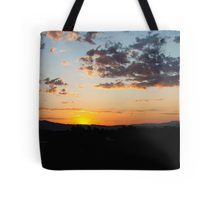 """Blues to Oranges"" sunrise tote bag by Henry Plumley 
