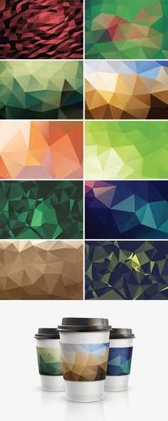 10 Geometric Backgrounds  #geometricbackground