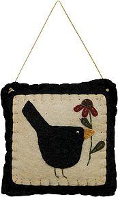 Blackbird Pillow Ornament - Kruenpeeper Creek Country Gifts