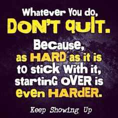 Yeah!!!  Feeling this one now. But I'm not quitting again. This time I'm beating me!