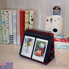 64 pocket stand up desktop calendar style Photo Album for Fujifilm INSTAX MINI 8