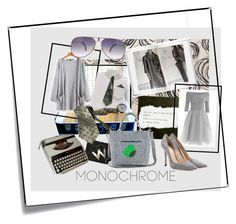 """Gorgeous Grey"" by woeste ❤ liked on Polyvore featuring Post-It, Metzler, Gianvito Rossi and monochrome"