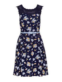 Caitlyn Dress   Navy And Multi   Dress