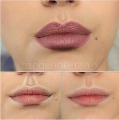 Highlighting the lips are always a good way to hide specific areas of the lips by darken the area an