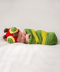 Another great find on #zulily! Green Hungry Caterpillar Prop Beanie & Wrap by Maddie's Mad Hatters #zulilyfinds