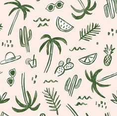 Jen B. Peters graphic design and illustration portfolio Illustration Simple, Illustration Inspiration, Beach Illustration, Pattern Illustration, Surface Pattern Design, Pattern Art, Textile Patterns, Textile Design, Textiles