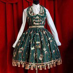 parc-d-attractions-manches-mi-longueur-vert-fonce-robe-sweet-lolita_jfdhlx1370489036217.jpg (384×384)