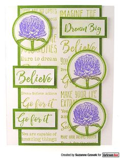 Card by Suzanne Czosek using Darkroom Door Dream Big Sentiments Stamp and Warm Wishes Stamp Set Distress Oxide Ink, Dream Big, Dreaming Of You, Card Ideas, Stamps, Warm, Make It Yourself, Creative, Seals