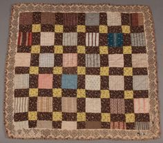 "PA PIECED DOLL QUILT, Fourth quarter  19th c., 21 1/2 "" square, Jeffrey S. Evans, Live Auctioneers"