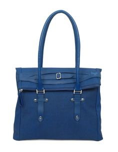 Workbag gone wild in cool blue shade by Baggit!
