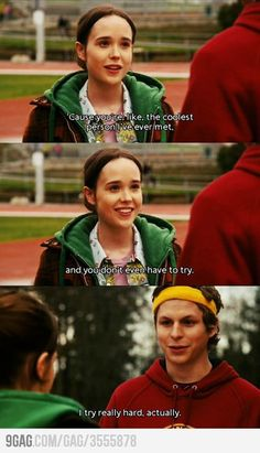 Juno, best movie ever! I love,  love love this movie, and the soundtrack, and the acting, it is a total package!