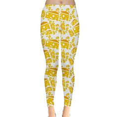 CowCow Womens Yellow Cheese Pattern Leggings