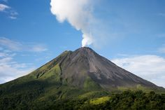 Mount Lokon, a volcano in northern Sulawesi..
