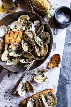 Now this sounds like a delicious summertime meal -- Grilled Clams with Charred��