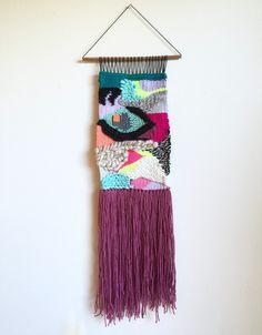 weaving woven wall hanging fiber art textile art