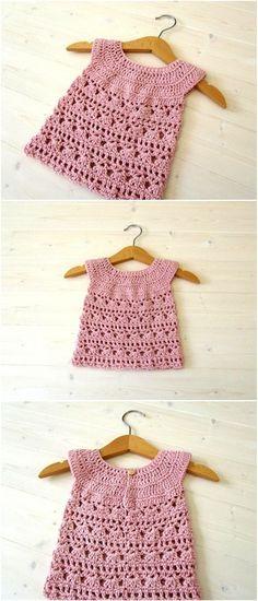Crochet Accessories Free Pattern, Crochet Girls Dress Pattern, Crochet Patterns, Crochet Toddler, Baby Girl Crochet, Newborn Crochet, Crochet Baby Sweaters, Crochet Baby Cardigan, Blanket Crochet