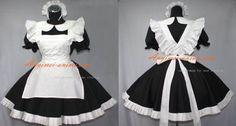 klassic balck- white maid dress