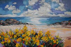 Judith I Bridgland: Paintings at the British Art Fair Seascape Paintings, Landscape Paintings, Beach Paintings, Impressionism Art, Art Party, Fauna, Art Fair, Abstract Landscape, Art Pictures