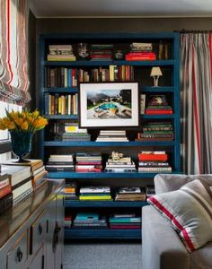 Bring Bright Hues Home With A Colorful Bookcase: Blue Bookcase