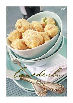 Canederli - Szalonnás kenyérgombóc Gnocchi, Vegetables, Food, Essen, Vegetable Recipes, Meals, Yemek, Veggies, Eten