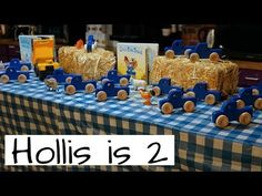 Nick Barrows Family Vlog: Hollis turns Check out this Little Blue Truck Birthday Party! Amber does a killer job at throwing birthday parties! 2 Year Old Birthday Party, 2nd Birthday Boys, Second Birthday Ideas, First Birthday Pictures, Boy Birthday Parties, Pumpkin 1st Birthdays, Pumpkin First Birthday, Little Blue Trucks, Birthday Party Centerpieces