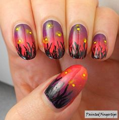 How about a throwback to some past nail art I loved? These were inspired by Chalkboard Nails and they're still one of my favourite nail art looks!