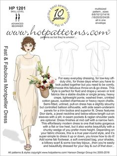 HP 1201 Fast & Fabulous Montpellier Dress - HotPatterns.com