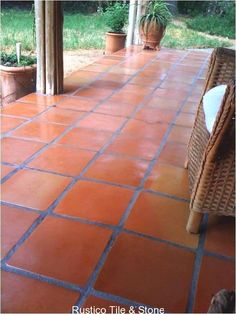 16x16 Super Sealed mexican floor tile sorted for more red terra cotta shades