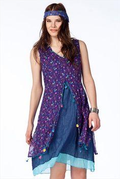 Trend: Etnik Esintiler - Mor Elbise 152 %39 indirimle 99,99TL ile Trendyol da