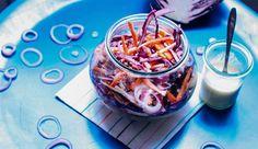 Salade croquante chou rouge, carotte et radis noir