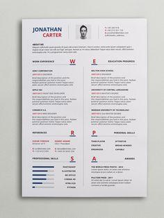 Clean Cv-Resume II | Resume cv, Resume ideas and Cv template