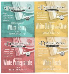 Davidson's Tea Single Serve Assorted White Teas, Bag ** Continue to the product at the image link. (This is an affiliate link) Teas, Caffeine, Image Link, Smooth, Packaging, Organic, Display, Green, Floor Space