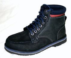 These great looking NAUTICA Mens Rich Hiking Outdoors Boots Black brushed Leather Sz 10
