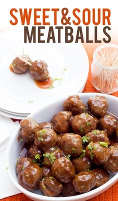 These sweet and sour meatballs are the perfect comfort-food appetizer for your holiday parties.