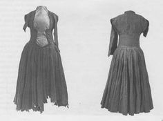 Clothing during the Renaissance: Dress found in a bog near Shinrone, County Tipperary century Irish Clothing, Medieval Clothing, Historical Clothing, Renaissance, 16th Century Clothing, Elizabethan Era, Irish Fashion, Woolen Dresses, Landsknecht