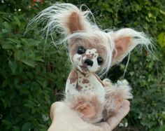 Custom Needle felted 100% wool / Sculpture Memory Pet by coalla