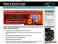 cool HD Video Backgrounds and Sound Loops