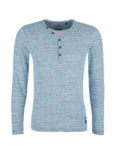 Buy Slim: Long sleeve top with a slub yarn texture Long Sleeve Tops, Fashion Online, Knitwear, Slim, Shape, Texture, Mens Tops, Stuff To Buy, Shopping