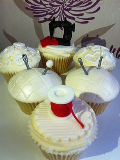 Cupcakes for a keen seamstress