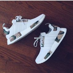 This adidas NMD White Camo Custom designed by Alexander-John takes the Triple White adidas NMD and adds Camouflage detailing for a perfect Camo adidas NMD. Women's Shoes, Hype Shoes, Me Too Shoes, Shoe Boots, Shoes Sneakers, Shoes Style, Shoes Men, Buy Shoes, Sneakers Fashion