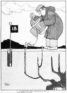 "1923 for ""The Bystander"" April 1923 Art Illustrations, Illustration Art, Rube Goldberg, Heath Robinson, Pen Drawings, Early Bird, Beetles, Caricature, Marker"