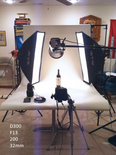 Product Photography setup (Bottle Photography Studio)