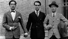 dali and lorca and buñel Salvador Dali, Roaring Twenties, The Twenties, Before Sunset, Its A Mans World, Free Thinker, Just The Way, Old Photos, Cool Girl