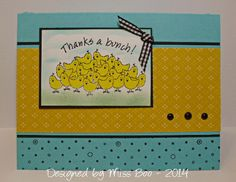 F4A211 - Thanks a Bunch - Stampin' Up Best of Cluck and Polka Dots & Paisley (2014)