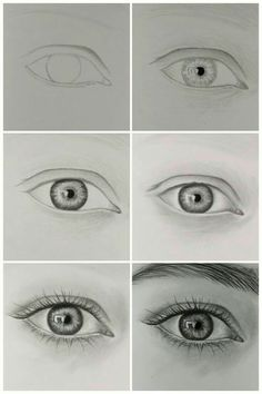 how to draw realistic eye step by step.:separator:how to draw realistic eye step by step. Pencil Art Drawings, Kawaii Drawings, Art Drawings Sketches, Eye Drawings, Eye Pencil Drawing, Realistic Eye Drawing, Drawing Eyes, How To Draw Realistic, How To Draw A Nose