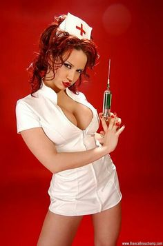 nurse red lips
