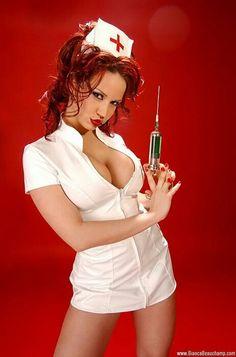 nurse red lips