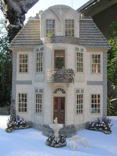 This is the Chateau de Morsan Dollhouse. It is a French style country house that was inspired by a pic I received of a real house located...